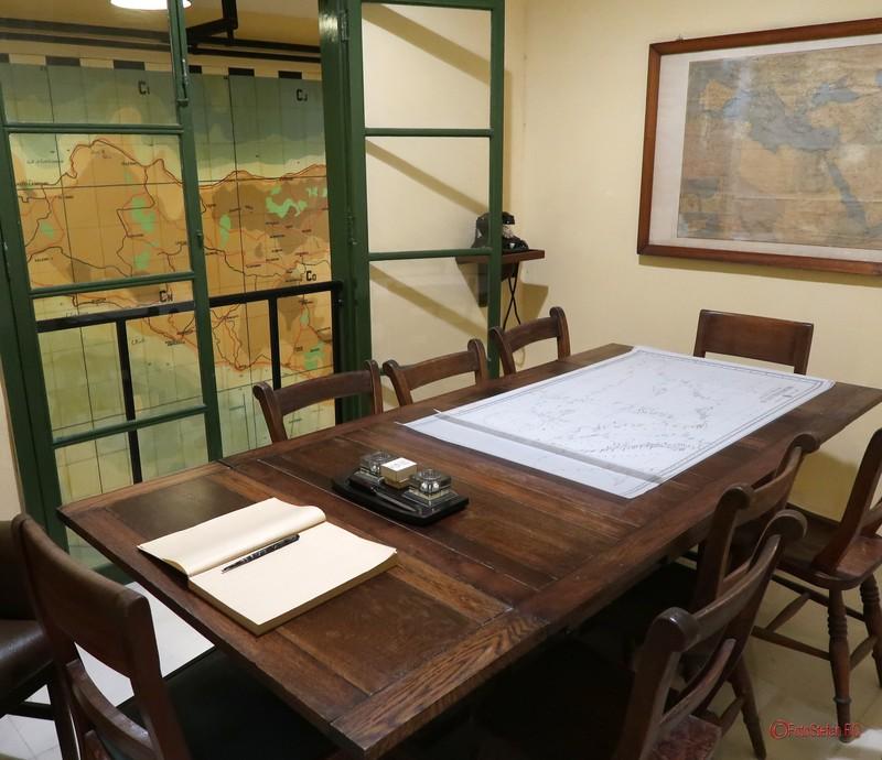 poza camera muzeu Lascaris War Rooms Valletta Malta