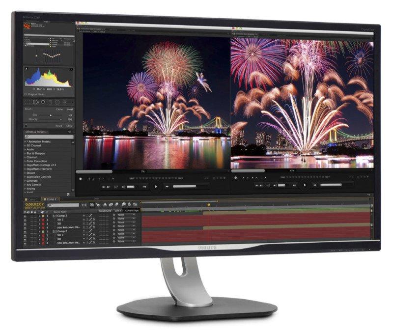 poza monitor 32 inch editare foto video grafica Philips 328P6AUBREB