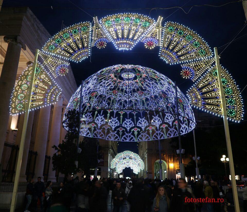 poze luminite valletta Malta Lumini de Craciun 2017