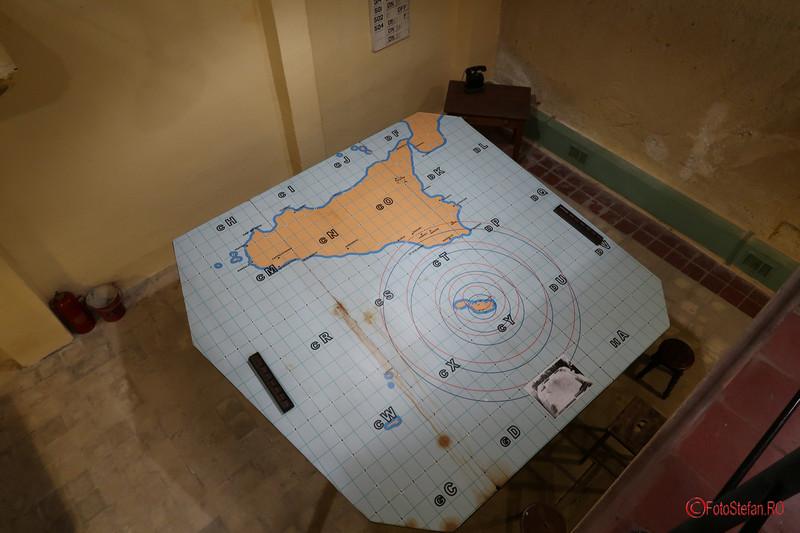 poza camera harta al doilea razboi mondial Lascaris War Rooms Valletta Malta