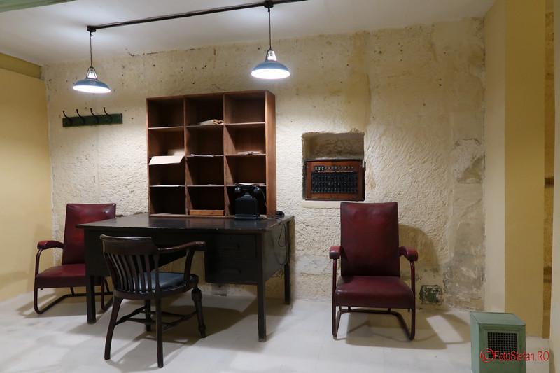 poza fotografie muzeu Lascaris War Rooms Valletta Malta filter room