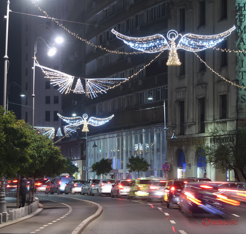 poza iluminat srabatori iarna ingeri calea victoriei bucureti 2017