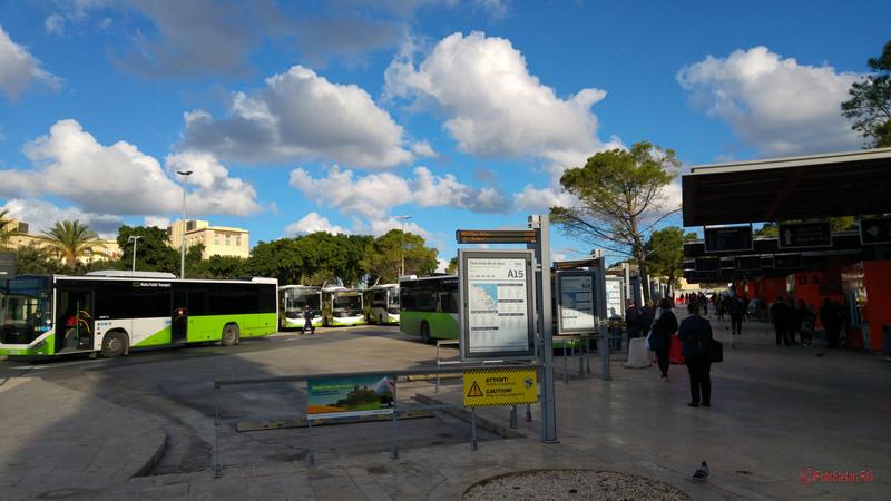 poza foto autogara centrala transport public malta valletta