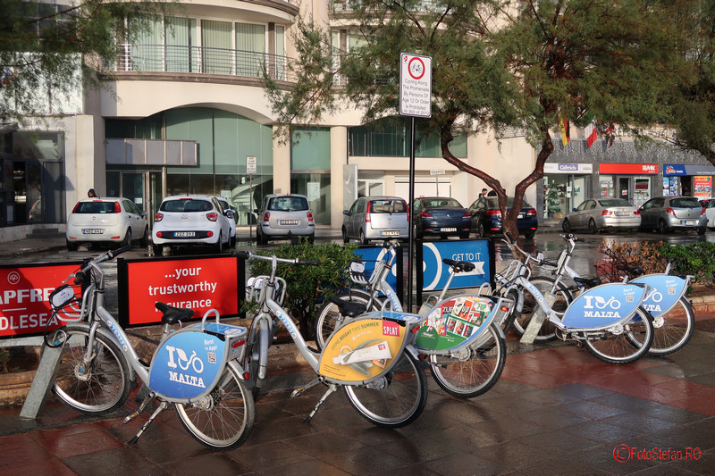poza bike sharing malta biciclete de inchriat