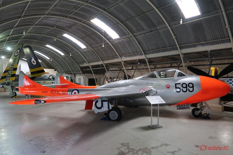 poze avion de Havilland Vampire T11 muzeul aviatiei malta