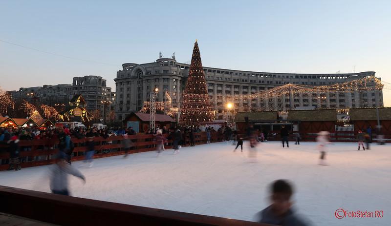 patinoar Targul de Craciun Bucuresti 2017 Piata Constitutiei