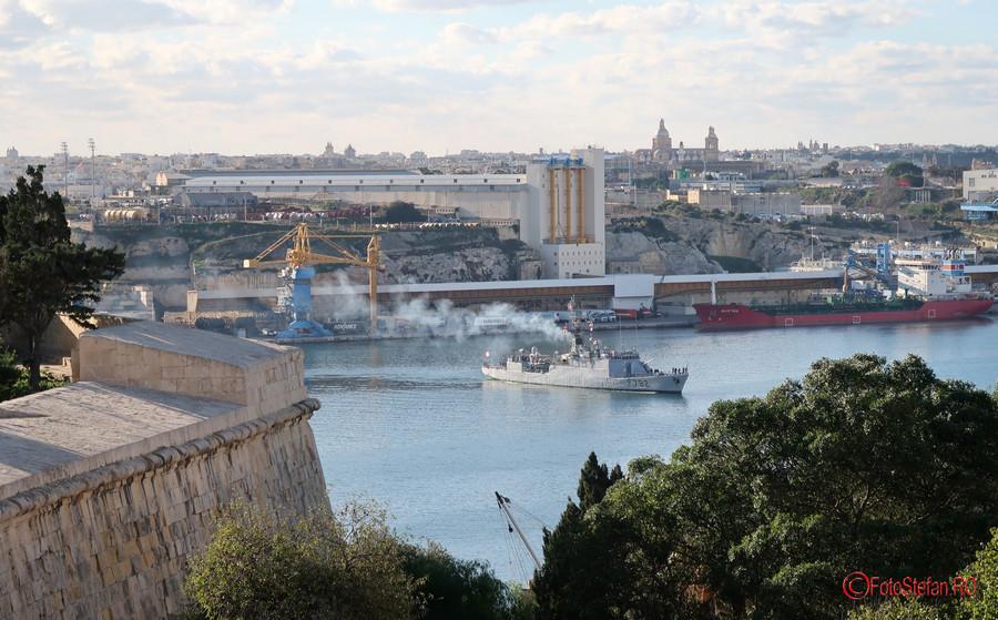 poza nava militara franceza malta valletta