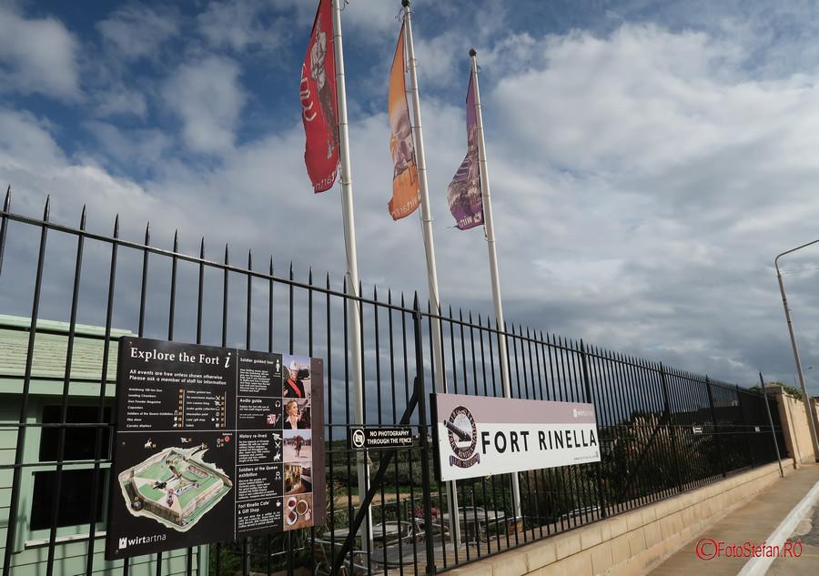 poze fotografii Fort Rinella malta  Kalkara