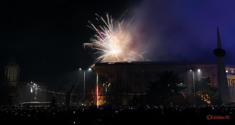 poza fotografie Focuri Artificii Revelion Bucuresti 2018