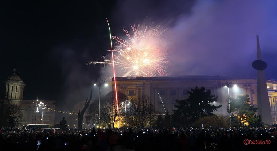 poze fotografii Focuri Artificii Revelion Bucuresti 2018