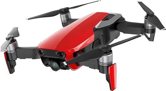 poza drona culoare rosu  DJI Mavic Air