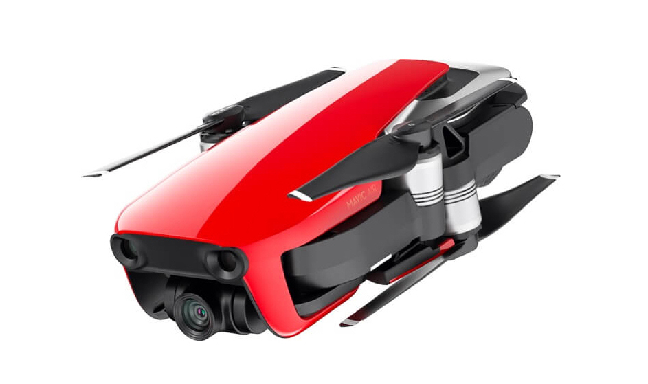 poza foto drona rosie DJI Mavic Air ultracompacta