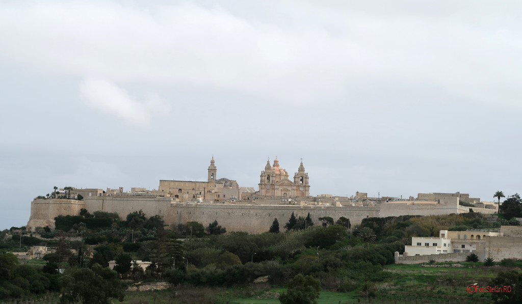poza fotografie mdina oras cetate capitala veche malta
