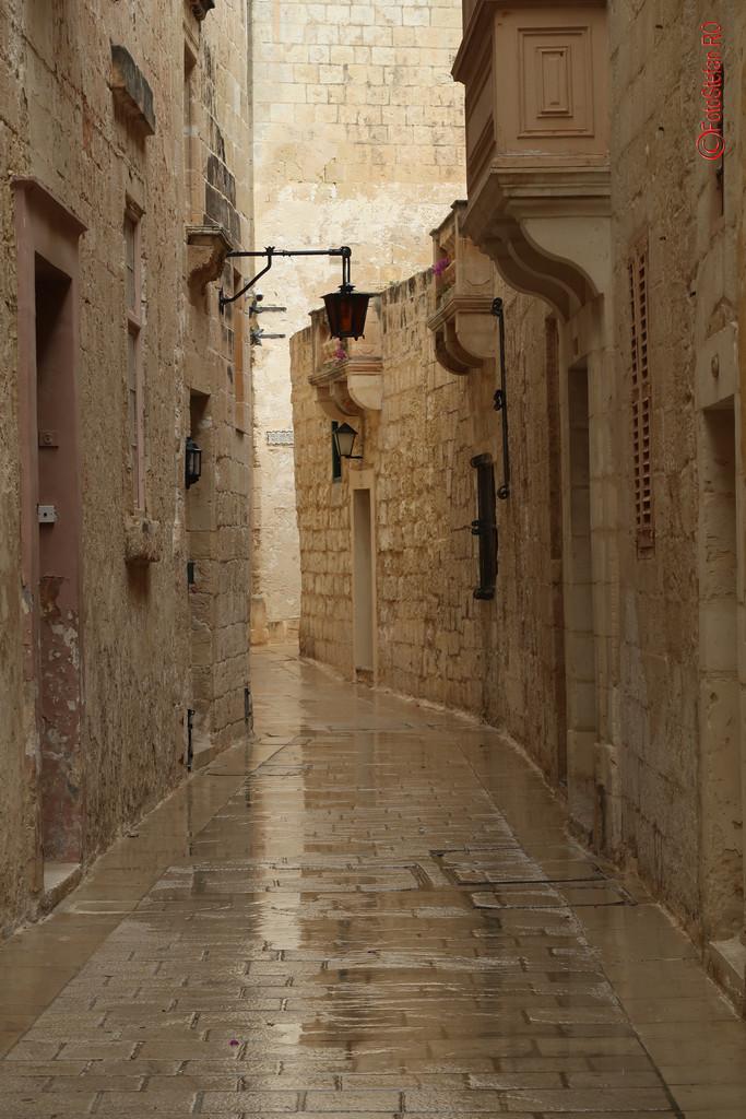 poze fotografii calatorie mdina strazi malta