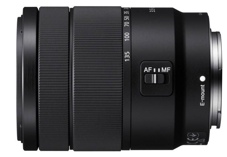 poza obiectiv montura e mirrorless Sony 18-135mm f/3.5-5.6 OSS SEL18135