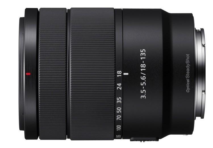 poza obiectiv mirrorless Sony SEL18135 montura E