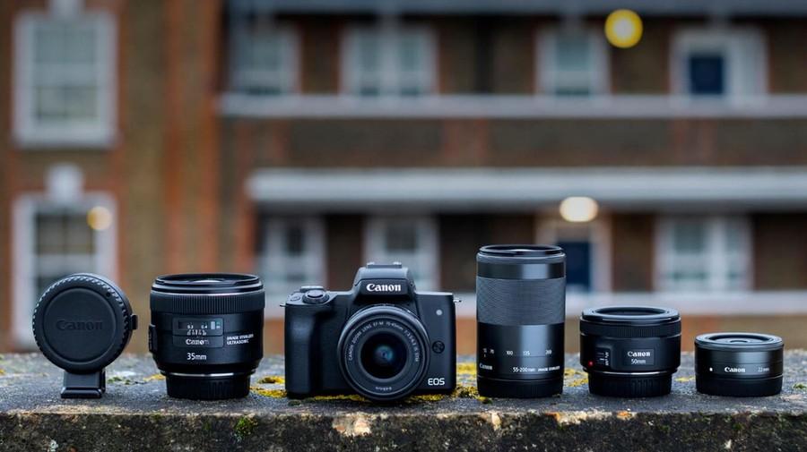 Canon EOS M50 adaptor obiective EF-EOS M