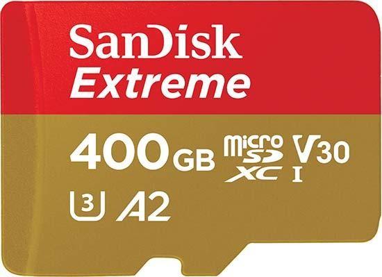 poza foto card memorie SanDisk microSDXC Extreme UHS-I V30 400GB