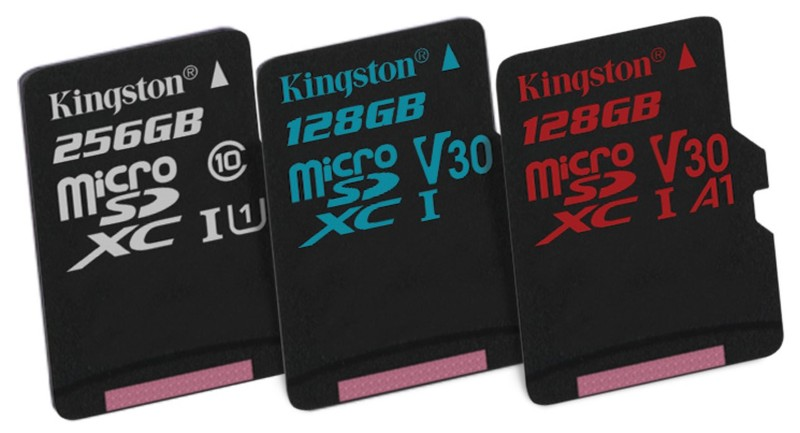 poza foto card memorie microsd Kingston Canvas