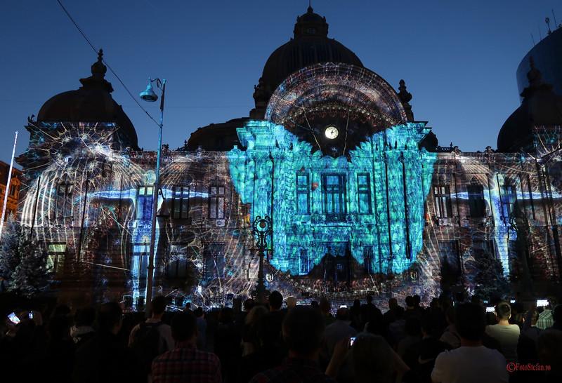 festivalul luminii spotlight bucuresti video mapping palatul cec