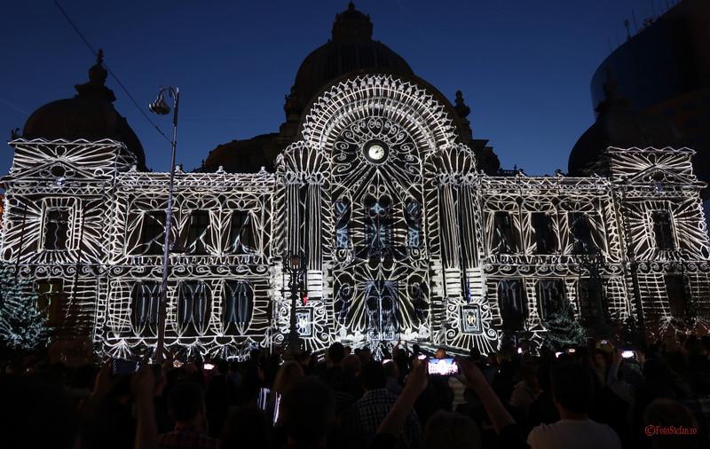 video mapping festivalul luminii Spotlight Bucuresti palatul CEC
