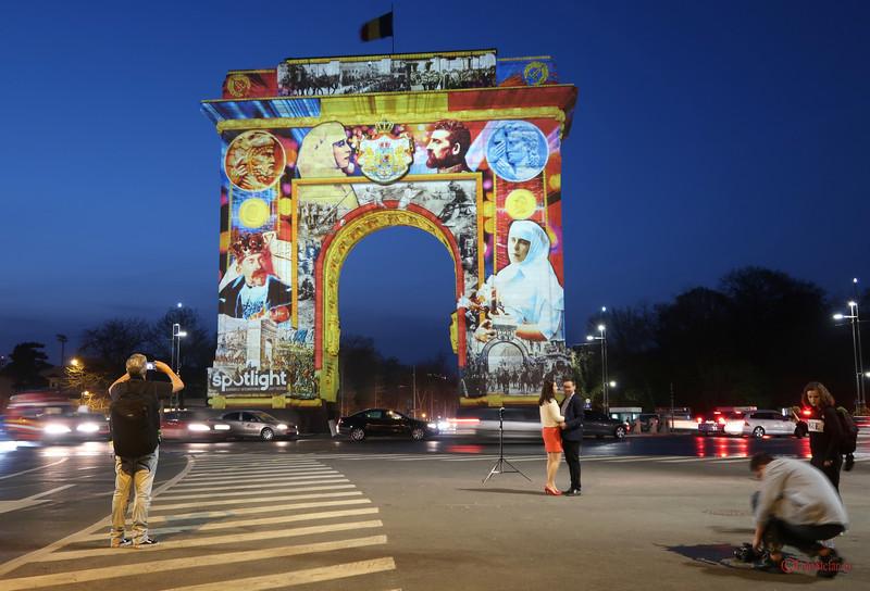 sedinta foto arcul de triumf bucuresti festivalul luminii spotlight