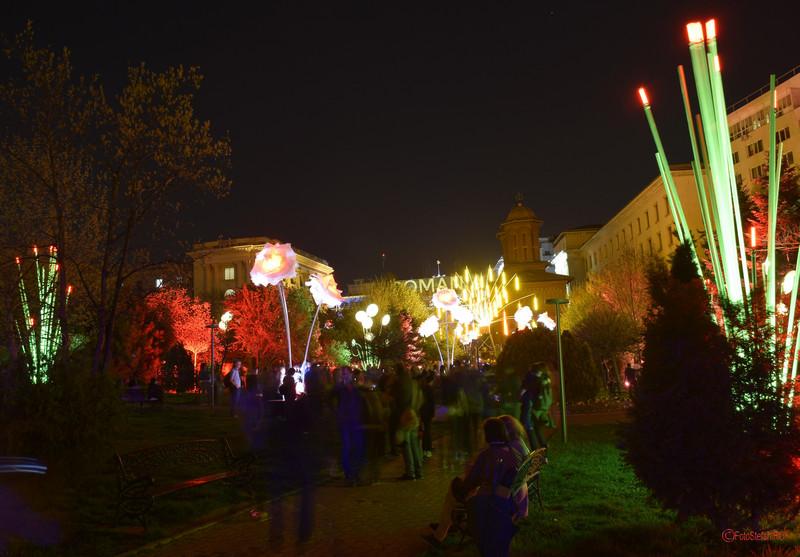 poze festivalulu luminii spotlight bucuresti parcul kretzulescu