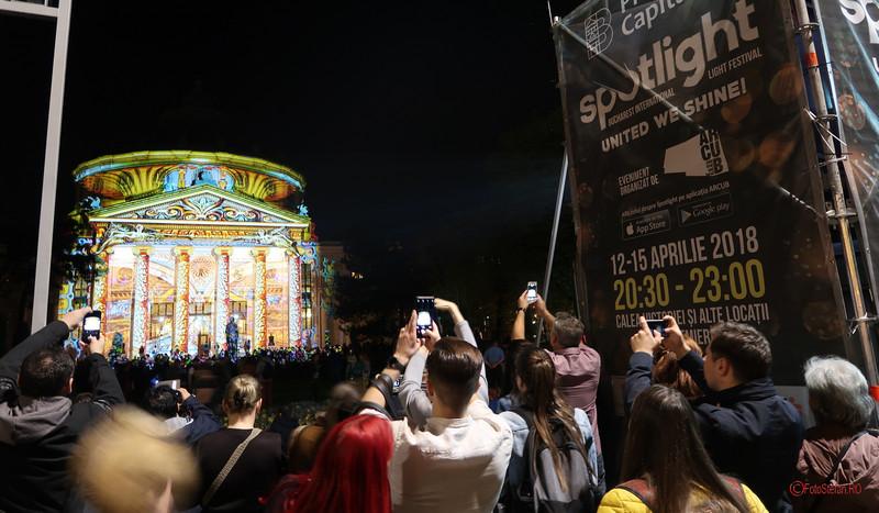 poza ateneul roman Festivalul Luminii Spotlight Bucuresti
