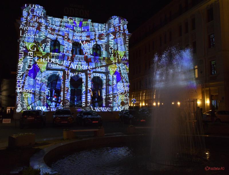 poza teatrul odeon festivalul luminii bucuresti