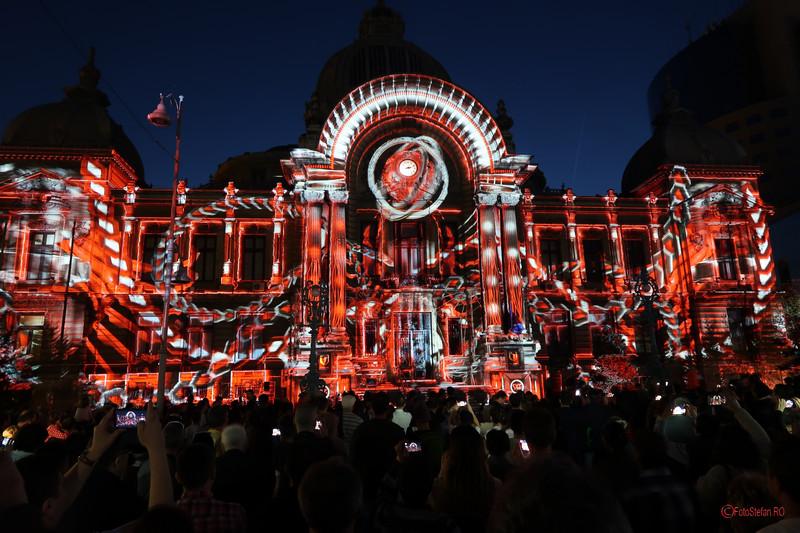 poze fotografii video mapping cladire cec calea victoriei bucuresti spotlight
