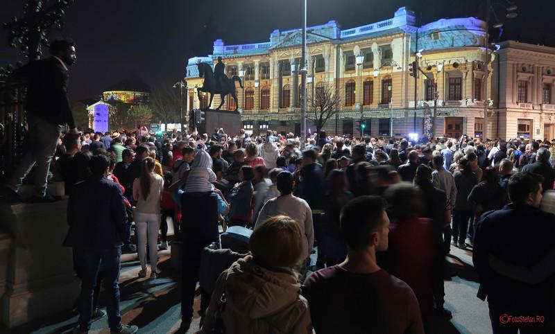poze proiectii video festivalul luminii spotlight bucuresti  Biblioteca Centrala Universitara