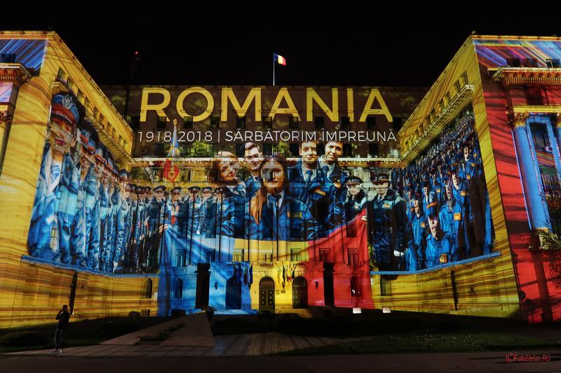 poza foto cladire mai piata revolutiei Festivalul Luminii Spotlight Bucuresti