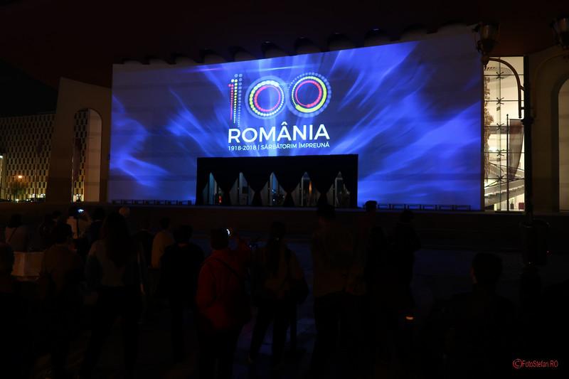 poza video mapping centenarul marii uniri Festivalul Luminii Spotlight Bucuresti TNB