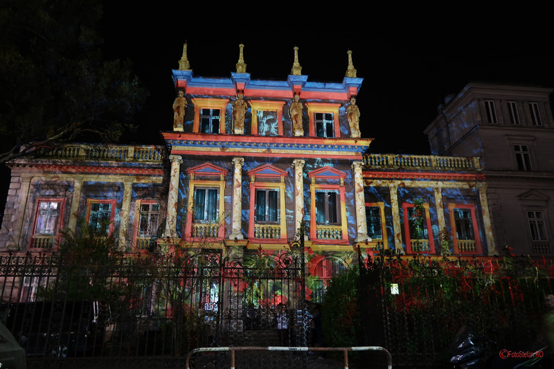 poza palatul stirbei video mapping Festivalul Luminii Spotlight Bucuresti