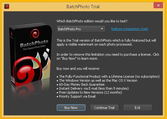 afis anunt BatchPhoto Enterprise program prelucrare fotografii