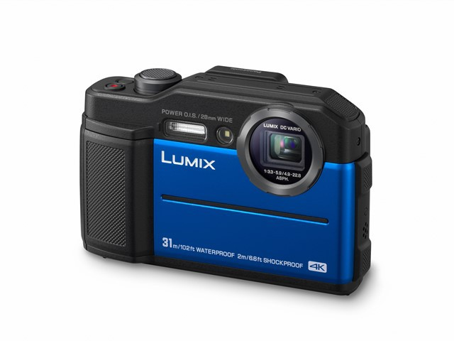 Panasonic Lumix FT7 albastru aparat foto compact subacvatic