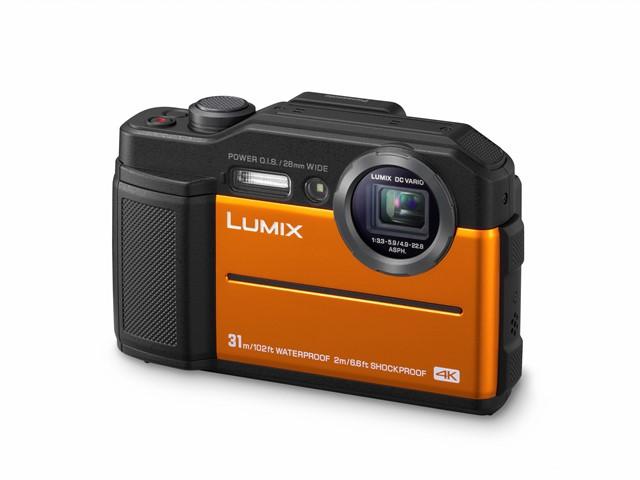 poza aparat foto compact portocaliu Lumix FT7