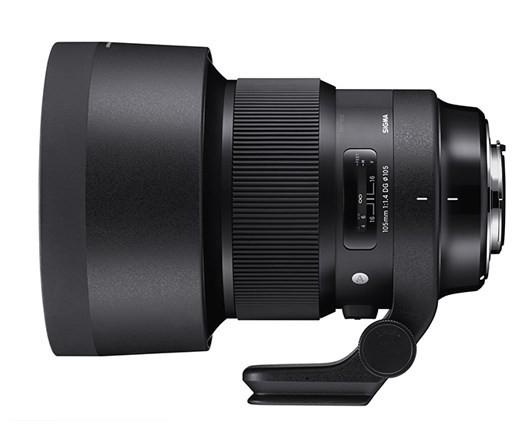 SIGMA 105mm F1.4 DG ART poza obiectiv zoom