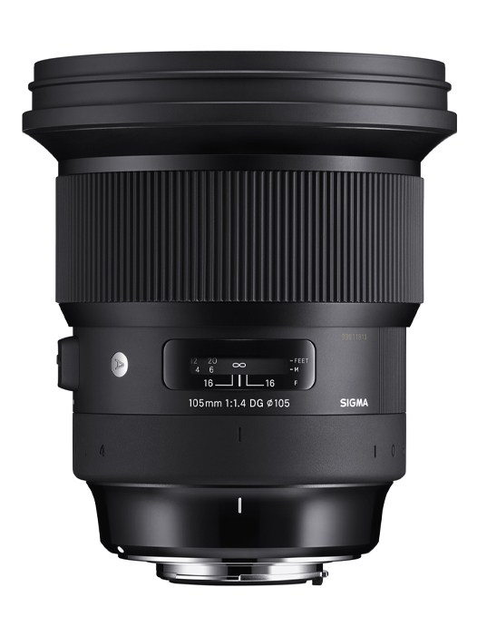 poza obiectiv zoom Sigma 105mm F1.4 DG art