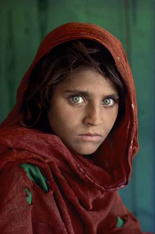 Afgan Girl portret fotograf steve mccurry