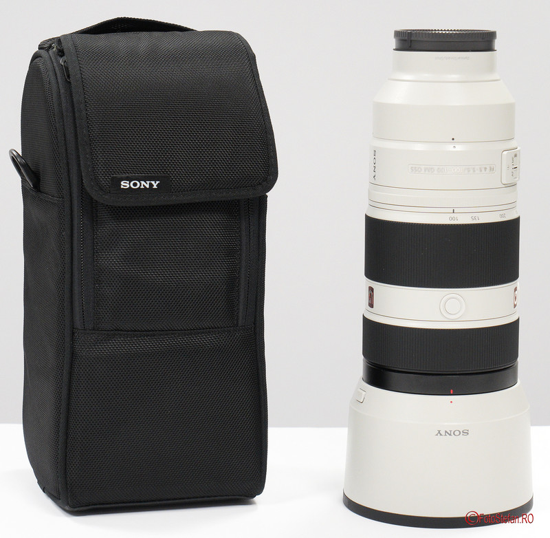 poza geanta obiectiv zoom Sony FE 100-400 F4.5-5.6 GM OSS