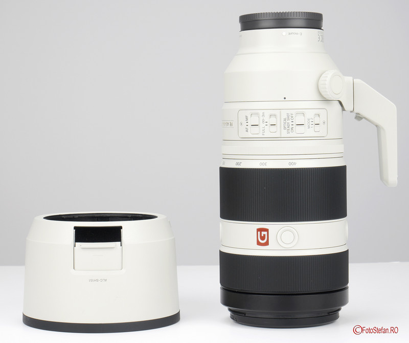 poza parasolar obiectiv Sony FE 100-400 F4.5-5.6 GM OSS