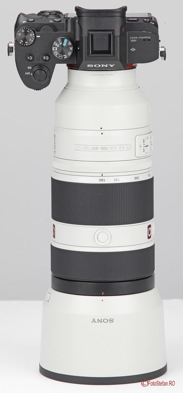 poza obiectiv zoom Sony 100-400 F4.5-5.6 GM OSS aparat foto sony a7 iii