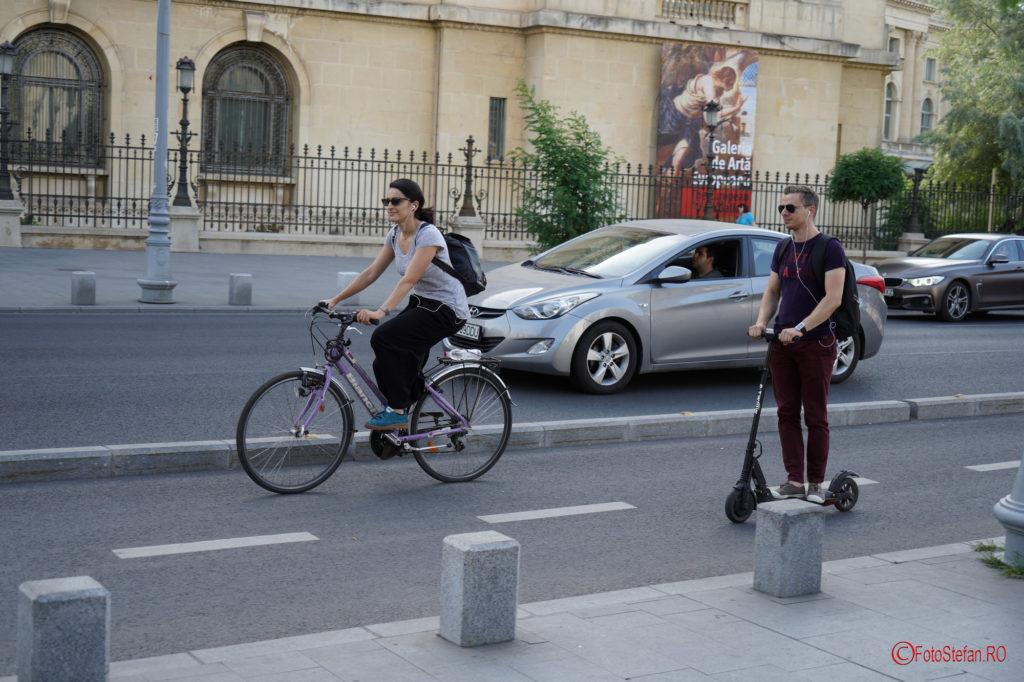 test Sony A7 III autofocus poza biciclisti calea victoriei