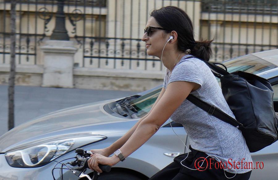 Test Sony A7 III poza biciclista calea victoriei bucuresti romania