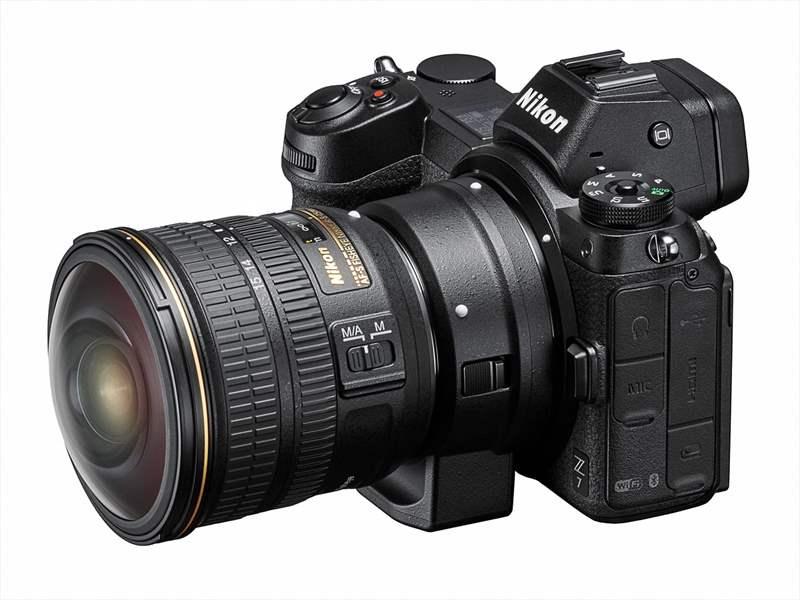 Nikon Z7 poza aparat foto mirrorless adaptor Nikon FTZ