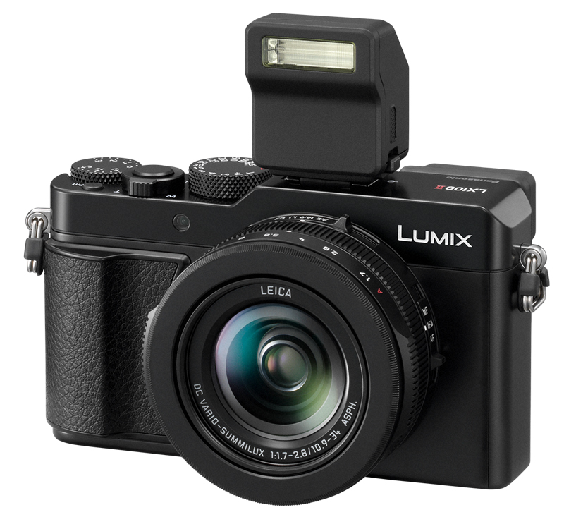 Panasonic LUMIX DMC LX100 II poza aparat foto compact blit extern