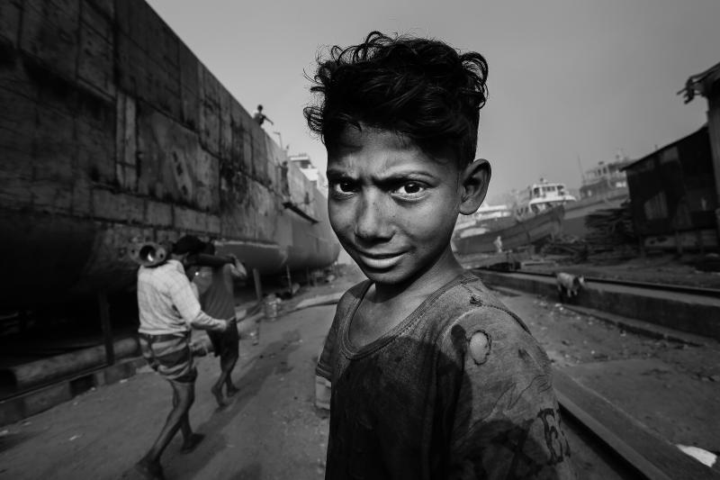 Annual Photoshare 2018 poza alb negru baiat Sandipani Chattopadhyay