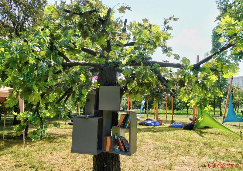 Copacul cu Carti poze parcul izvor bucuresti
