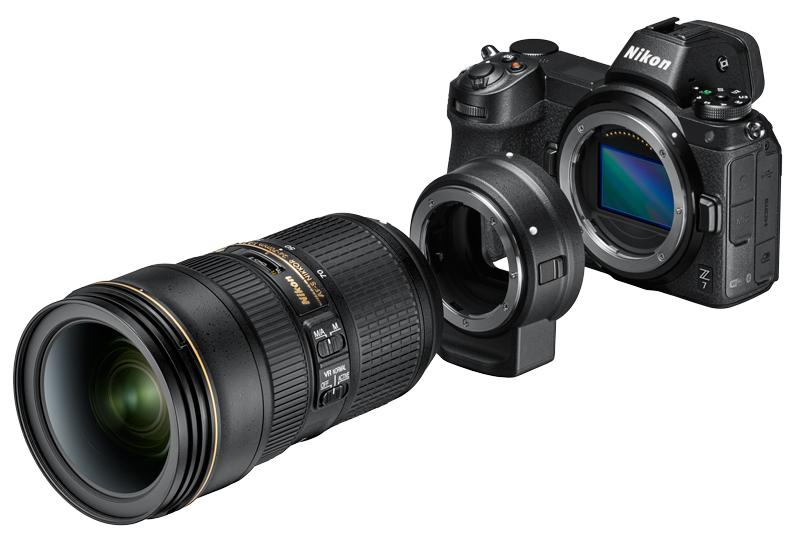 Nikon Z poza adaptor obiective nikkor mirrorless